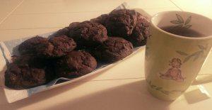 vegan chocolate protein cookies / vegane Schokoladencookies mit Extraprotein