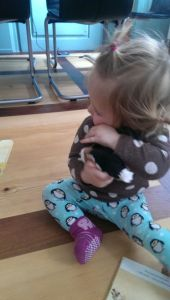 this lucky softtoy-dog was once loved passionately bay Akeera's godfather - and now by her! :)